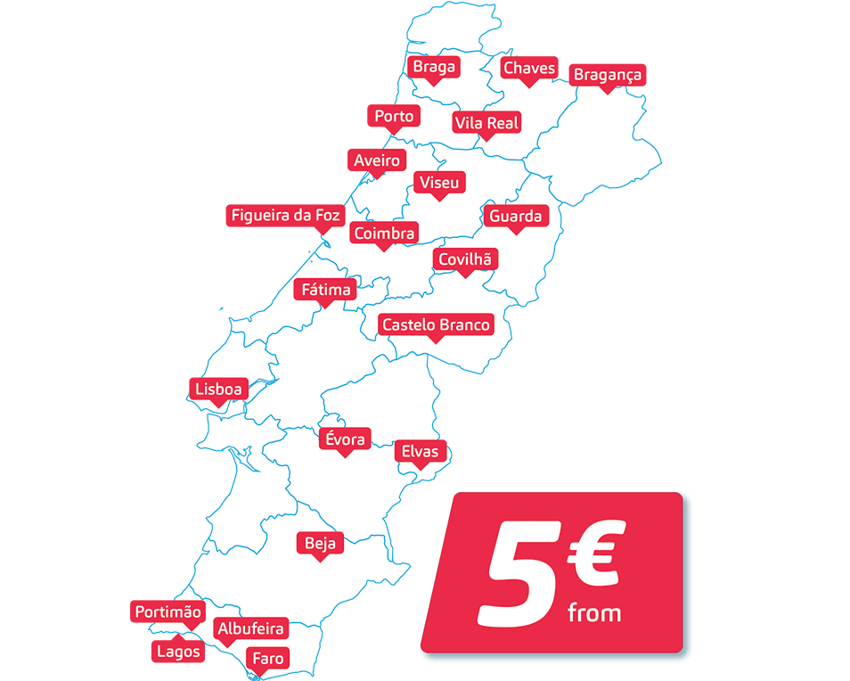 2500 daily tickets from 5 € - You asked for more tickets, more buses, more discounts… We heard! Take this opportunity to travel relaxed and whenever you want. You might want to buy online and in advance before those tickets sell out!