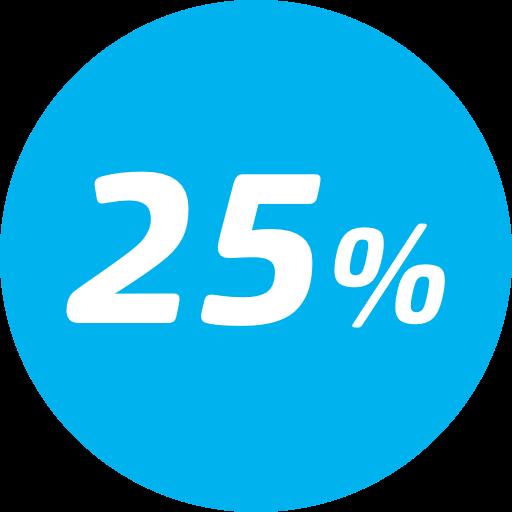 25% desconto na tarifa básica - Entre a 8ª e 14ª viagem