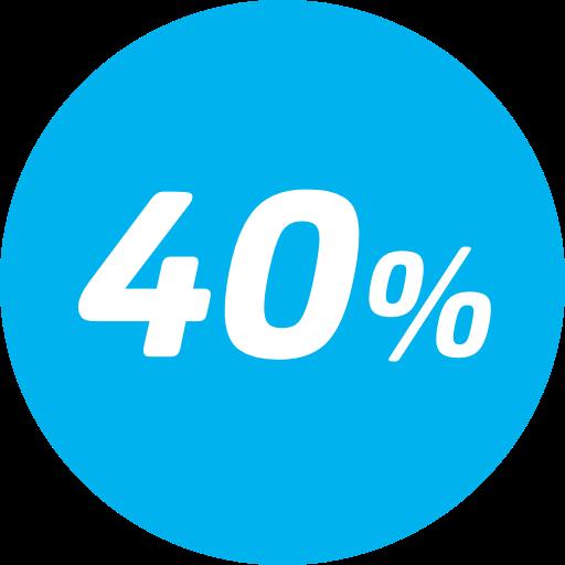40% desconto na tarifa básica - Entre a 15ª e 21ª viagem