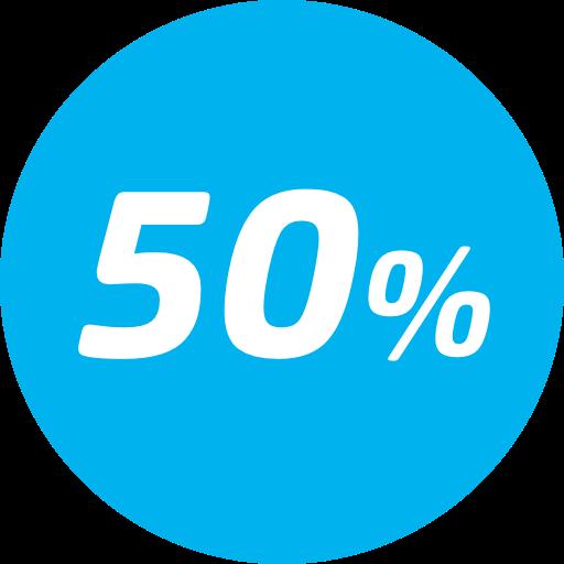 50% desconto na tarifa básica - Entre a 22ª e 34ª viagem