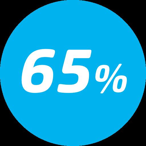 65% desconto na tarifa básica - Entre a 45ª e 50ª viagem