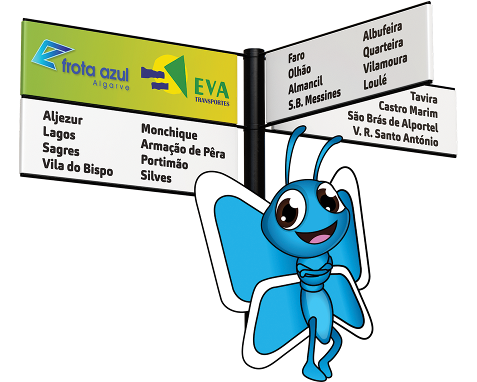 Free public transportation in Algarve - Travel free of charge on all public transport services from EVA and Frota Azul Algarve, on the day of travel, upon presentation of a ticket, either on the way to the terminal, or return home!
